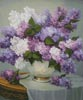Lilac Romance (Medium) - Cross Stitch Chart