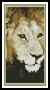 Lion 4 Bookmark - Cross Stitch Chart