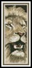 Lion 5 Bookmark - Cross Stitch Chart