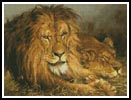 Lion and Lioness - Cross Stitch Chart