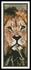 Lion Bookmark - Cross Stitch Chart