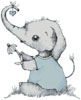 Little Boy Daisy Elephant - Cross Stitch Chart