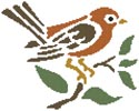 Little Brown Bird - Cross Stitch Chart