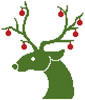 Little Christmas Reindeer - Cross Stitch Chart