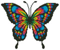 Little Colourful Butterfly - (Facebook Group) Cross Stitch Chart