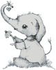 Little Daisy Elephant - Cross Stitch Chart