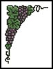 Little Grape Corner - Cross Stitch Chart