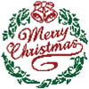 Little Merry Christmas Wreath - Cross Stitch Chart