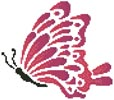 Little Pink Butterfly - Cross Stitch Chart