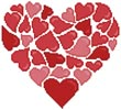 Little Red Hearts - Cross Stitch Chart