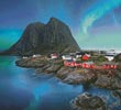 Lofoten Norway (Crop) - Cross Stitch Chart