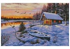 Log Cabin - Cross Stitch Chart
