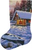 Log Cabin Stocking (Left) - Cross Stitch Chart