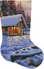 Log Cabin Stocking (Right) - Cross Stitch Chart