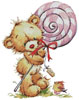 Lollypop Bear - Cross Stitch Chart