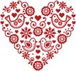 Love Birds Heart - Cross Stitch Chart