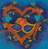 Lovebirds Painting - Cross Stitch Chart