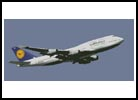Lufthansa Plane - Cross Stitch Chart