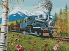 Lumbering Along Shasta County - Cross Stitch Chart