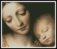 Madonna and Child 1 - Cross Stitch Chart