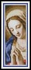 Madonna Praying Bookmark - Cross Stitch Chart