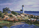 Maine Lighthouse - Cross Stitch Chart