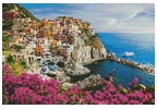Manarola Village, Cinque Terre - Cross Stitch Chart