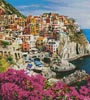 Manarola Village, Cinque Terre (Crop) - Cross Stitch Chart