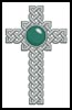 Celtic Cross March (Aquamarine) - Cross Stitch Chart