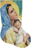 Mary and Baby Jesus Stocking (Right) - Cross Stitch Chart