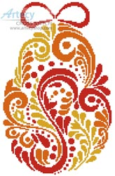 Abstract Easter Egg 2 - Cross Stitch Chart
