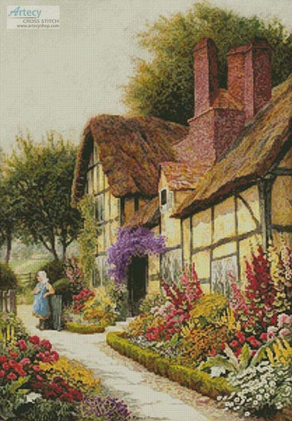 A Cottage Garden in Full Bloom - (FB Group) Cross Stitch Chart