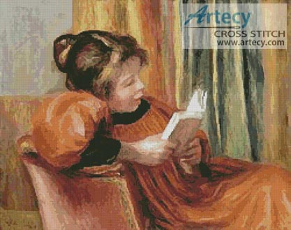 A Girl Reading - Cross Stitch Chart