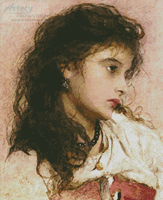 A Gypsy Girl - Cross Stitch Chart