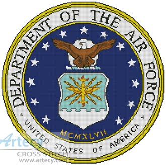Air Force Seal - Cross Stitch Chart
