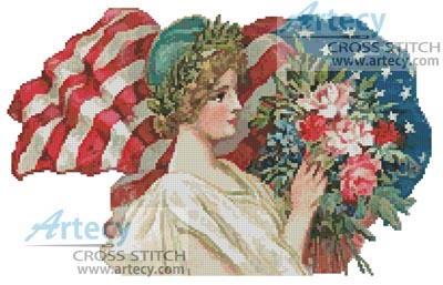 American Blossoms - Cross Stitch Chart