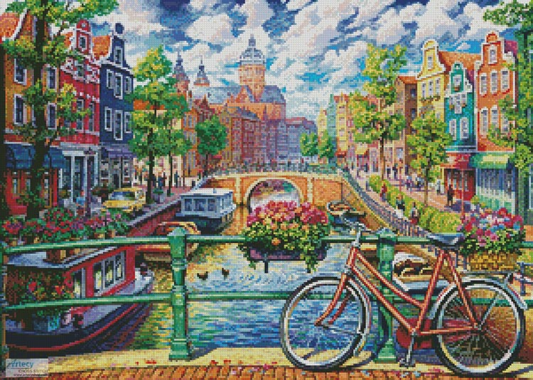 Amsterdam Canal - Cross Stitch Chart