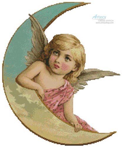 Angel Moon - (Facebook Group) Cross Stitch Chart