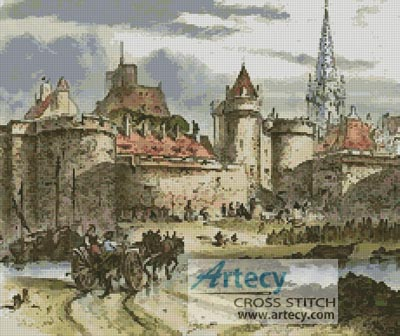 Antique Castle - Cross Stitch Chart
