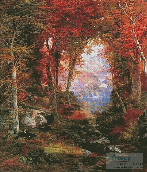 The Autumnal Woods (Large) - Cross Stitch Chart