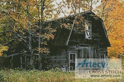 Old Barn Cross Stitch Pattern to print online.