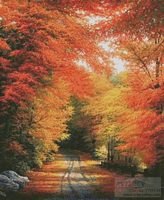 Autumn in New England - Cross Stitch Chart