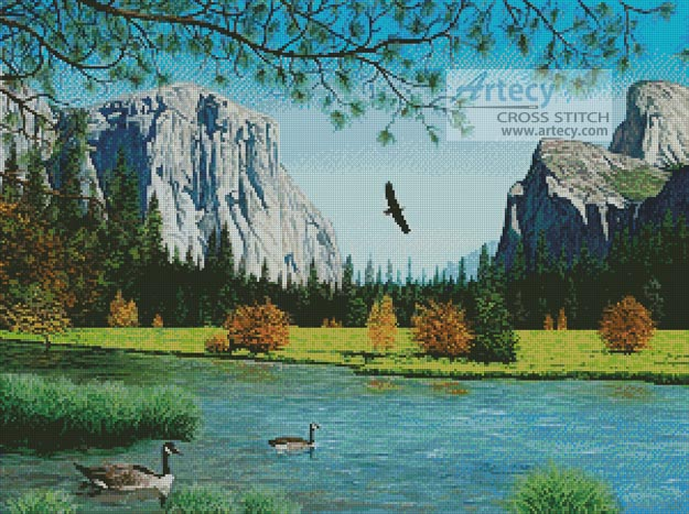 Autumn in Yosemite Valley - Cross Stitch Chart