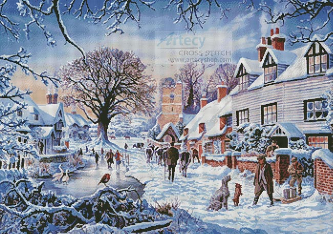 A Village in Winter - Cross Stitch Chart