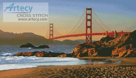 Baker Beach - Cross Stitch Chart