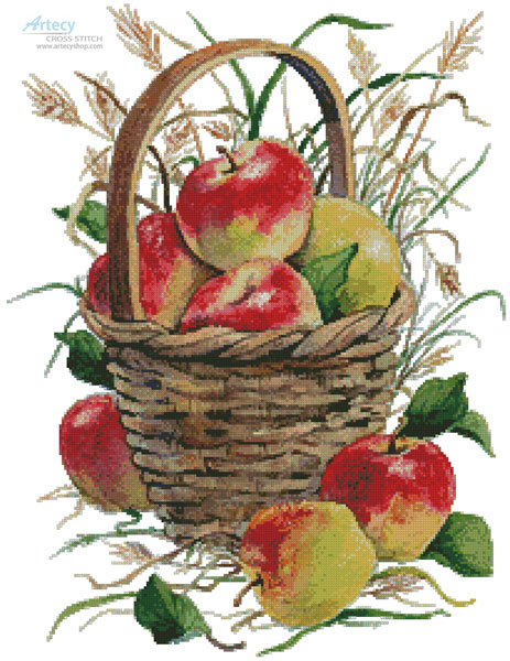 Basket of Apples - Cross Stitch Chart