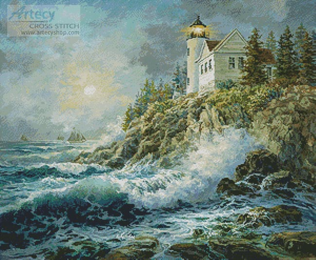 Bass Harbor Lighthouse - Cross Stitch Chart