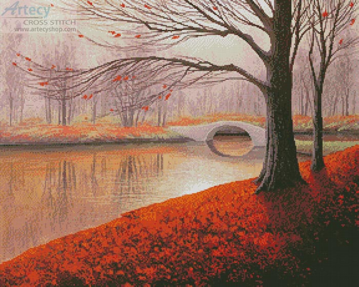 Before the Last Leaves Fall (Large) - Cross Stitch Chart