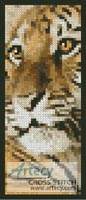 Bengal Tiger Cub Bookmark - Cross Stitch Chart