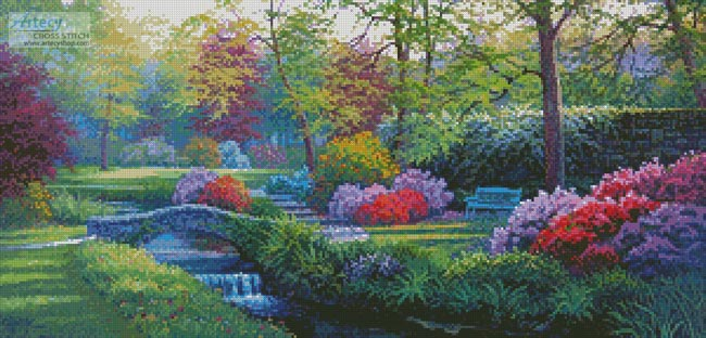 Beside the Brook - Cross Stitch Chart